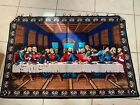 """The  Last Supper Tapestry Jesus Apostles Wall Hanging w Hanging Rings 56""""x40"""""""