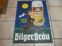 BilgerBräu Gottmadingen ah-BilgerBräu  Seit 1821  Original altes Bierplakat