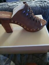NIB Michael Kors Shoes Westley Mule Acorn Leather Size 8N