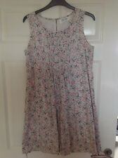 Oasis Sleeveless Pintuck Summer Tunic Dress Size 12