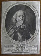 Gravure XVIIème sur vergé filigrané  comte de Starhemberg engraving stampa