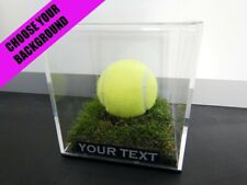✺New✺ Tennis Ball DISPLAY CASE - Wimbledon Federer Nadal Djokovic Memorabilia