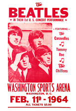 The Beatles Concert Poster, February 11th, 1964, Washington Sports Arena