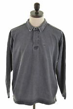 Fat Face Mens Polo Neck Jumper Sweater Medium Grey Cotton Loose Fit