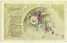 Language of Flowers Snowdrops for Hope and Pansy for Thought Flower Symbolic