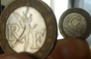 FAUTEE désaxée coins tournés proche médaille 10f 1989