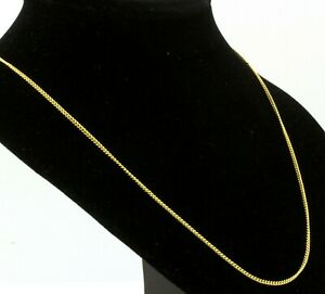 """2mm Gold Filled Womens Mens Curb Chain - New 16"""" to 24"""" Long Unisex Necklace"""