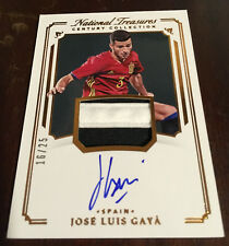 2018 National Treasures Jose Luis Gaya Autograph Jersey Patch #16/25 Spain