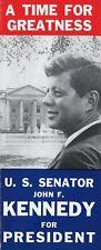 Original 'Kennedy for President' 1960 West Virginia Primary Brochure