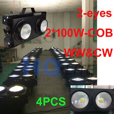4pcs-pack COB Audience light led wash Blinder light 2*100w ww@cw 2in1 color led