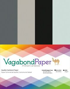 """Premium Quality 8.5"""" x 11"""" GRAY CARDSTOCK PAPER - 20 Sheets"""