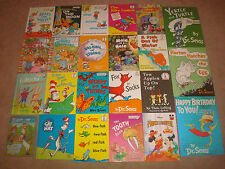 Bright and Early Beginner Books LOT HC Dr Seuss Disney Kids Cat in The Hat DVD