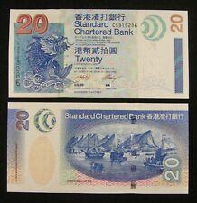 Hong Kong Banknote P291 20 Dollars Standard Chartered Bank 1.7.2003 UNC