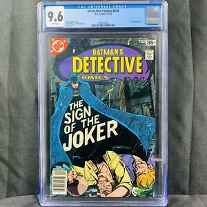 Detective Comics (Vol. 1) Issue 476 (1978) DC Comics Sign Of The Joker CGC 9.6