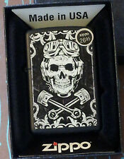 Zippo 29088 Skull Wrenches Black Matte NEW in box Windproof Lighter Free Ship