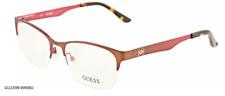 NEW Guess Eyeglasses GU 2399 Col Brown Burgundy BRNBU 53-18-135 Authentic
