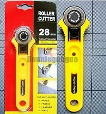 28MM Rotary Roller Cutter Cut Fabric Leather Vinyl Paper clothes Craft Patchwork