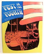 1970 ATLANTA POP FESTIVAL PICTORIAL PHOTO PROGRAM BOOK NEW-OLD-STOCK