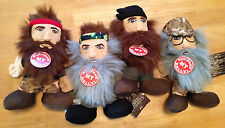 Duck Dynasty 8-Inch Talking Plush Set Phil, Si, Willie, and Jase *NEW*