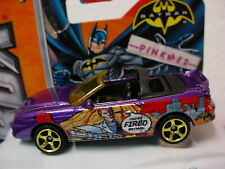 2013 Matchbox BATMAN Robin~FORD MUSTANG COBRA Conv~Met PURPLE~New loose mbx