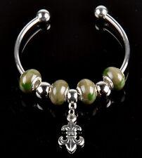 1pc handmade European style porcelain charms beaded bracelet lobster clasp S_A54