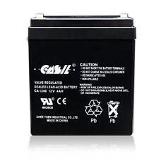 Casil Genuine CA1240 12V 4Ah SLA Alarm Battery ADT, Verizon, Honeywell Sys.