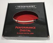 Transparent Audio Digital Perform75-Ohm Digital Link PD75DL.5 0.5M (RCA/RCA)