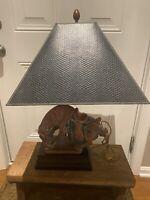 Vintage Mid-Century Frederick Cooper Bowing Horse Figural Table Desk Lamp