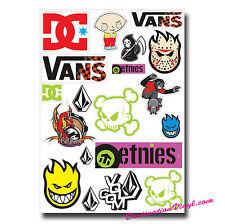 A4 Sheet - Sticker Mix Vinyl Stickers Stickerbomb Surf Surfer Camper Van #0001