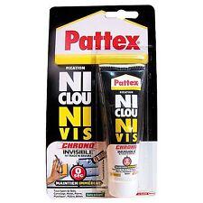 PATTEX  NI CLOU NI VIS INVISIBLE COLLE METAL BOIS PLASTIQUE TUBE 40 ML REF254631
