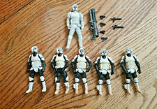 STAR WARS IMPERIAL SCOUT TROOPER Lot of 6 LOOSE COMPLETE