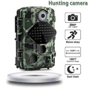 Wildkamera 20MP 1080P Nachtsicht Jagdkamera Wildtierkamera Außenkamera+ Micro SD