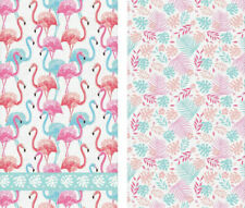 """2 PC Kitchen Towels with Pink Flamingo Birds Pattern 16x28"""" ea / Dish Cloth Set"""