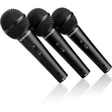 Behringer XM-1800S Dynamic Handheld Vocal Microphone Club School Church 3 Pack