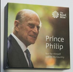 2017 Royal Mint Prince Philip Life of Service £5 Five Pound Silver Proof Coin