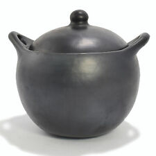 Black Clay, La Chamba Rounded Soup Pot - Large