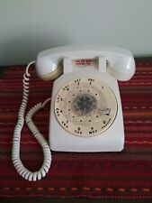 Vintage White Rotary Dial Telephone Beige Rotary Dial Telephone