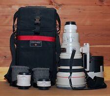 Canon Lens EF 400mm 1:2.8 L Ultrasonic — PLUS Extenders 1.4x and 2x — PLUS Bag