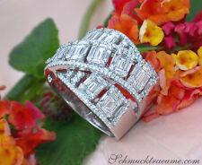 Überkreuzter Brillanten Ring mit Baguette Diamanten 2.37 ct. TW VS WG-750 12600€