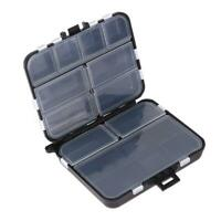 Fishing Lure Bait Tackle Box Compartment Pocket Portable Storage Box $S1