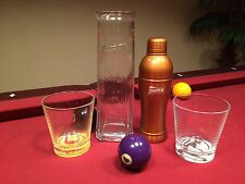 Cointreau Collection: Metal Cocktail Shaker, Tall Glass Mixer, 2 Glasses