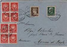 Imperiale-Due blocchi di quattro 2 cent(242A)+10 cent(245)+25 cent(248) Lecco