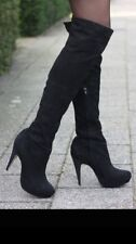 Topshop Stiletto 100% Leather Boots for Women