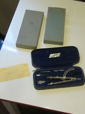 **RARE** Vintage Alvin 655A compass set Made In GERMANY zip case orig box