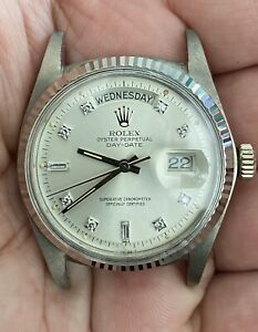 Vintage Rolex Day Date 1803 White Gold 18k Year 1974