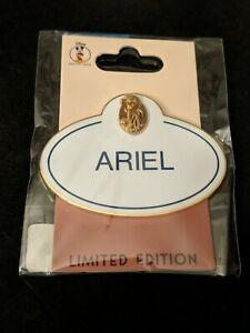 Disney Pin Employee Center DEC Name Tag Cast 30th Anniversary LE 250 Ariel HTF