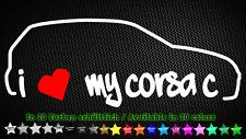 I love my Corsa C Opel GSI 16v Pegatina Sticker 20cm x 7cm