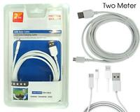Premium Quality New Micro USB 100% Genuine 2 Metre Fast Sync & Charging Cable