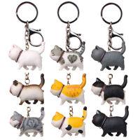 New Lovely Cat Kitten Keychain Keyring Handbag Pendant Ornament Kids Toy Gi X4_N