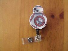Star Wars BB-8 Retractable Reel ID Badge Lanyard Clip Nursing Scrubs
